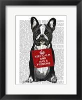 Hug a Frenchie Framed Print