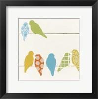 Patterned Perch IV Framed Print