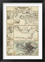 Map of the Coast of England II Framed Print