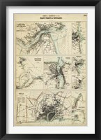 Map of the Coast of England III Framed Print
