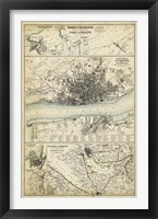 Map of the Coast of England IV Framed Print