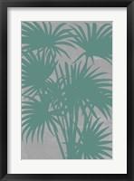 Chromatic Palms II Framed Print