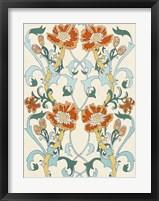 Nouveau Floral Pattern I Framed Print