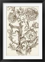 Flora & Filigree I Framed Print
