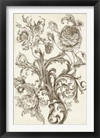 Flora & Filigree II Framed Print