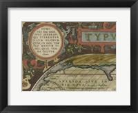 Antique World Map Grid I Framed Print