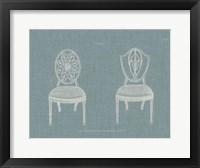Hepplewhite Chairs I Framed Print