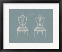 Hepplewhite Chairs II Framed Print