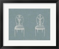 Hepplewhite Chairs IV Framed Print