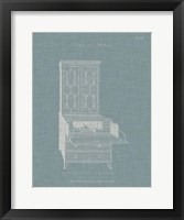Hepplewhite Desk & Bookcase I Framed Print