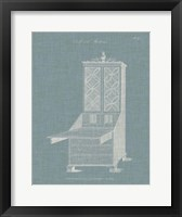 Hepplewhite Desk & Bookcase II Framed Print