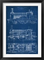 Framed Locomotive Blueprint I