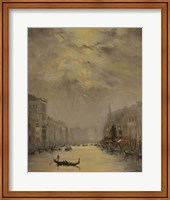 Framed Venice Evening Gold