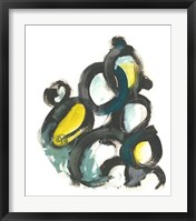 Linked Ovals I Framed Print