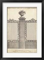 Antique Decorative Gate I Framed Print