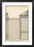 Framed Antique Decorative Gate II