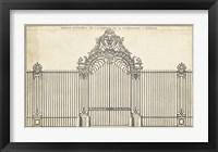 Framed Antique Decorative Gate III