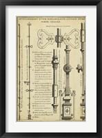 Framed Antique Decorative Locks I