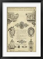Antique Decorative Locks II Framed Print