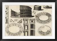 Framed Diagram of the Colosseum