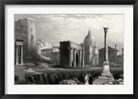 Framed Antique View of Rome