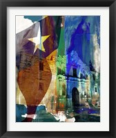 Framed Alamo Flag