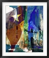 Framed Alamo Flag