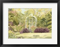 Framed Aquarelle Garden II