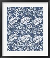 Indigo Floral Chintz II Framed Print