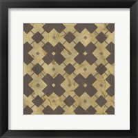 Golden Trellis IV Framed Print