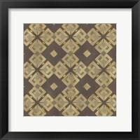 Framed Golden Trellis VI