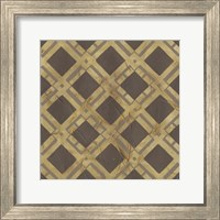 Framed Golden Trellis VIII