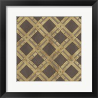 Golden Trellis VIII Framed Print