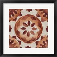 Elemental Tiles IV Framed Print