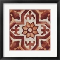 Elemental Tiles V Framed Print
