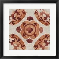 Elemental Tiles VI Framed Print