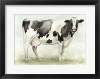 Watercolor Cow I Framed Print
