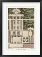 Framed Plan De La Villa Barberini
