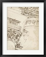 Architects Sketchbook II Framed Print