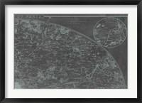 Map of Paris Grid II Framed Print