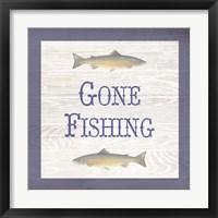 Framed Gone Fishing Salmon