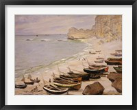 Framed Boats on the Beach at Etretat, 1883