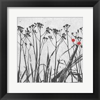 Crimson Ink Plants 2 Framed Print