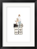 NYC Or Bust Illo Framed Print