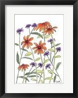 Framed Orange Corn Flower