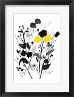 Framed Yellow Silouette I
