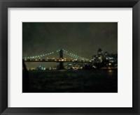 Framed Bridge At Night
