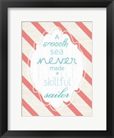 Smooth Sea Framed Print