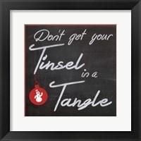 Tinsel Framed Print