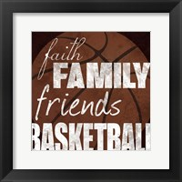 Basketball Friends Framed Print